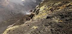 Bocca Nuova (Derbyshire Harrier) Tags: snow volcano lava spring mediterranean steam gas crater sicily sulphur geology volcanic etna fumes 2016 mountetna activevolcano fumaroles tephra craterecentrale boccanuova volcanicbomb volcanotectonicfaults