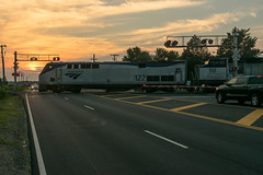 16-4030cr (George Hamlin) Tags: road railroad sunset sky cars electric train photography virginia photo george colorful crossing general diesel grade crescent amtrak manassas locomotive passenger autos genesis atk decor 19 brickyard hamlin