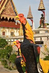 DSC_7983 (Kent MacElwee) Tags: thailand ayuthayya ayuthaya seasia sea southeastasia ayutthaya river chaophrayariver watputthaisawan temple buddhist kingramathibodii rooster cockerel