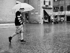 . (alb.montagna) Tags: street portrait people blackandwhite bw italy monochrome rain umbrella italia streetphotography streetportrait zuiko olympusomdem10mkii