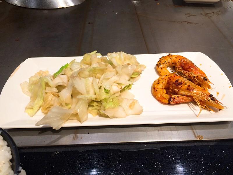 前菜與椒鹽佐大蝦