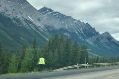Warden Yelling (Downhillnut) Tags: mountains calgary race kananaskis longview relay nakiska 2016 crr 100miles relayteam 10runners calgaryroadrunners