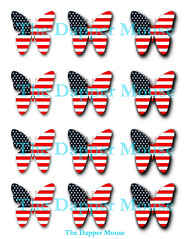 4th of July Butterfly Collage Sheet Watermark (deniselynch2) Tags: 4th july collage sheet usa patriotic red white blue commercial use butterfly butterflies scrapbook scrapbooking cupcake toppers topepr dapper mouse us flag