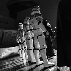 Clone Formation (psiscott) Tags: toy photography miniature starwars action disney formation fantasy figure scifi stormtrooper clone troop kyloren