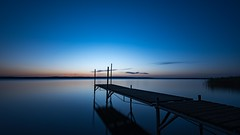 Another morning by the jetty (jarnasen) Tags: longexposure morning blue summer copyright lake nature sunrise landscape dawn early nikon scenery mood sweden outdoor jetty tripod atmosphere calm le hour sverige nikkor scandinavia morgon stergtland ndfilter tvrskogsudde d810 leefilters nd10 nordiclandscape bigstopper 1635mmf4 jarnasen jrnsen