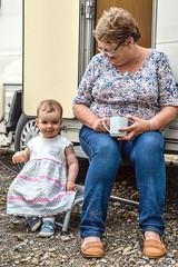 Doorstepping! (Nikki & Tom) Tags: uk grandma liz girl toddler child sophie tynewear