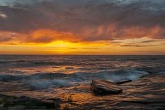 La Jolla Beach on fire (nguyentruyen344) Tags: ca sunset beach la san diego southern jolla