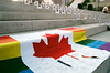 With Love From Toronto (Georgie_grrl) Tags: music toronto ontario love rainbow community flag ceremony canadian photographs gathering mapleleaf pentaxk1000 outreach signatures nathanphillipssquare lgbtq rikenon12828mm lovenotefororlando memorialfororlando