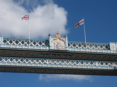 Tower Bridge (Epochend) Tags: bridge sky london tower clouds flag flags
