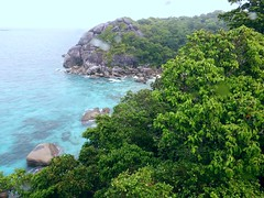 Similan Island, Thailand (Jan-2016) 20-012 (MistyTree Adventures) Tags: seasia thailand outdoor mukosimilannp panasoniclumix similanisland forest shore ocean trees rocks