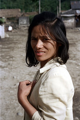 32-166 (ndpa / s. lundeen, archivist) Tags: winter portrait people woman color fall film face rural 35mm village nick taiwan 1970s 1972 hualien 32 taiwanese eastcoast unidentified dewolf rurallife republicofchina easterncoast easterntaiwan nickdewolf localwoman photographbynickdewolf hualiencounty reel32