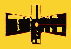 Kimono: Birthday of the Warrior, Black Shadows in his Ivory Tower on a Sunny Morning 8. Juli Geburtstag des Kriegers Schwarze Schatten in seinem bieder-meierlichen Elfenbeintürmchen am strahlenden Morgen Schwarze Schatten aus gutem Grund (hedbavny) Tags: elfenbeinturm schwarz black schatten shadow red rot gelb gold physalis toledo yellow line linie rosengarten laurin kimono gewand kleid kleidung kostüm schlafrock bademantel sommer summer verlauf variation design pattern muster schnittmuster musterbogen sewingpattern paperpattern stencil schablone vogelscheuche scarecrow engel angel rosegarden ornament werkstatt werkstätte teppichweber tapisserieweber 33 35 iging minarette goldenerfaden diary tagebuch abstrakt konkret hedbavny ingridhedbavny wien vienna austria österreich leiter ladder rung sprosse