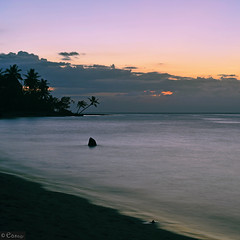 Silky sunset (easaphoto) Tags: sunset atardecer puestadesol rd caribbean caribe mar sea playa beach palms palmeras