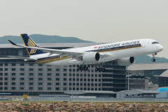 Singapore Airlines A350-900 9V-SWD (altinomh) Tags: singapore airlines a350900 9vswd sq airbus a350 a359 hong kong international airport hkg hkia landing
