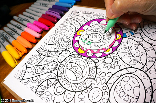 Groovy Abstract Coloring Book Art By Thaneeya McArdle