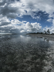 Rain (Top KM) Tags: africa blue light sea sky cloud storm color beach nature rain by clouds canon palms landscape tanzania island photography photo sand colorful shoot photographer place little palm fisheye international zanzibar km 6d