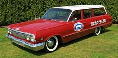 1963 Chevrolet Bel Air station wagon (Custom_Cab) Tags: red chevrolet car station wagon air chevy bel 1963 nhra race racing nationalhotrodassociation v8 409 dragsafari belair stationwagon