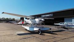 G-OLLS Cessna T206H Floatplane (Liam Salt) Tags: airport aircraft aviation 206 beech cessna floatplane bonanza gama planespotting fairoaks golls gzloj