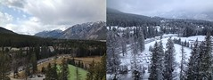 Easter Getaway - What a diffence a day makes... (benlarhome) Tags: canada nationalpark alberta banff