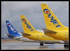 Canjet Tails (Tom Podolec) Tags: toronto ontario canada airport tail international mississauga tails pearson canjet news46 thisimagemaynotbeusedinanywaywithoutpriorpermissionallrightsreserved2015