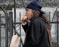 Yummy Doughnut... (Bobby Angel) Tags: chicago uptown unposed prettywoman frommycar drivebyshootings streetphotographer candidpictures realnotfake robertfrankgabriel akabobbyangel