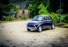 (Mickey Katz) Tags: old travel blue vacation green art classic beautiful beauty vintage photo amazing classiccar europe forsale fiat sony awesome culture dramatic tourist sidewalk 500 breathtaking fiat500 bestshot supershot rx10 flickrsbest amazingphoto abigfave anawesomeshot flickrlovers