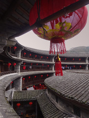 Hakka Tulou - Fujian - China (Rogg4n) Tags: world china travel roof red house heritage tourism architecture rural ancient asia village sony traditional country chinese unesco round lantern 中国 tradition fujian typical hakka picturesque ming iconic province chine bulding mondial patrimoine qing dwelling tulou 福建土楼 sonydscwx300