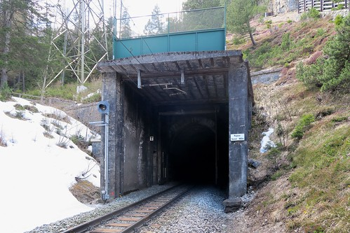 Albula Pass - Rugnux Tunnel open