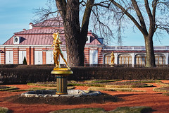 Peterhof. April (andrey-ivanoff) Tags: park travel flowers summer people sunlight plant man flower color tree green nature floral beauty field grass yellow gardens yard rural season outdoors leaf spring bed pond day pattern purple head vibrant or space lawn formal scene front made flare colored tranquil multi scenics springtime keukenhof peterhof landscaped nonurban