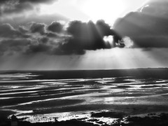 Wolken überm Watt / Clouds above the Wadden Sea (Avia-Photo) Tags: travel blackandwhite bw pentax journey juist
