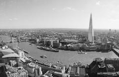 Landmarks (Phil W Shirley) Tags: city uk england bw panorama london thames towerbridge river cityhall pano hmsbelfast shard skygarden walkietalkie