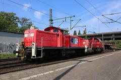 DB Cargo 295 019-4 und 261 027-7 Hamburg-Harburg (michaelgoll777) Tags: db v90 gravita br261 br295