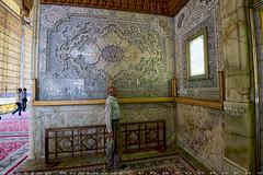 Wall decorations at exit door (T   J ) Tags: iran fujifilm shiraz xt1 teeje shahecheragh fujinon1024mmf4