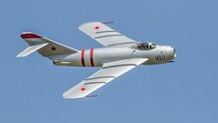 Just 17 - Mig (4myrrh1) Tags: canon airplane virginia aircraft aviation airshow va hampton langley afb 2016 mig17 ef100400l 7dii