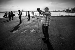 Crutch Guy (The Image Den) Tags: people monochrome photographer candid streetphotography southampton southamptonwater mayflowerpark