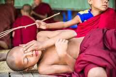School Break-DSC_1185-2 (thomschphotography3) Tags: school red boys burma streetphotography monks myanmar birma mandalay sagaing novices