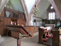 Brockhampton - All Saints' Church (pefkosmad) Tags: uk england building church architecture choir herefordshire chancel anglican stalls furnishings artsandcrafts brockhampton placeofworship allsaintschurch hallowedground churchofengland englandsthousandbestchurches