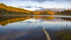 23UP-135 (marcusvinicius441) Tags: red orange cloud lake reflection fall water forest sunrise mood michigan upperpeninsula hiawathanationalforest councillake