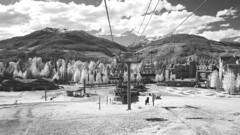 Blackcomb Mountain Gondola (XyrisKenn) Tags: travel trees white cinema black ski mountains ir scenic tokina infrared gondola f28 bmcc blackmagic 1116mm