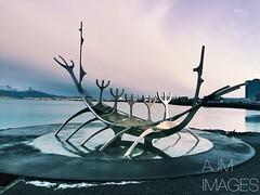 The Sun Voyager (alexmoreton1) Tags: birthday november winter sculpture holiday cold ice iceland reykjavik celebration ive winterbreak iphone sunvoyager thesunvoyager iphone6s