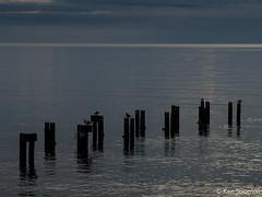 Frankston Beach. (kensol72) Tags: sunset bay portphillip water jetty beach australia fuji victoria fujinon x20 melbourne fujifilm frankston