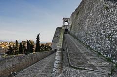Corfu, new fortress (nikosgr) Tags: castle nature architecture landscape stonework hill medieval historic greece corfu fortress