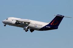 OO-DWG (GH@BHD) Tags: aircraft aviation bae bel airliner sn avro bae146 146 britishaerospace rj100 egac bhd belfastcityairport 146300 oodwg brusselsairlines
