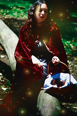 #ProjectNeverland: #RedRidingHood (TheJennire) Tags: light red food cinema film luz girl fashion fairytale forest self dark hair cores movie photography book photo woods colours foto magic dream young makeup style colores littleredridinghood fantasy ethereal hood dreamy fotografia brownies redridinghood cabelo pelo cabello fireflies conceptualphotography tumblr projectneverland
