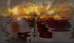 Sunset, art (Sebmanstar) Tags: color art nature digital photoshop work photography image pentax creative explore creation research imagine imagination paysage campagne couleur transformed ide creatif