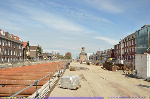 2e tunnelbuis in aanbouw - Werkzaamheden Spoorzone Delft 2-5-2016