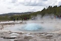 Geysir, Iceland (Tiphaine Rolland) Tags: blue water iceland nikon eau bleu 1855mm geyser 1855 geysir islande 2016 d3000 nikond3000