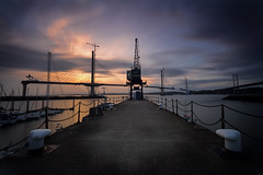 Port Edgar Sunset (Kyoshi Masamune) Tags: edinburgh uk scotland kyoshimasamune longexposure zomei zomeind1000 cokinfilters cokinnd4 sunset ultrawideangle wideangle lowtide southqueensferry queensferrycrossing firthofforth forth forthroadbridge northsea northqueensferry portedgar