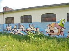 424 (en-ri) Tags: richard corn adc ragazzina girl torino wall muro graffiti writing giallo verde lumaca