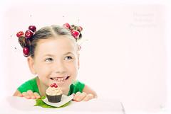 3-2-1... (MissSmile) Tags: misssmile child kid girl summer portrait cherry fun funny positive memories color vivid red green